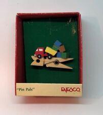 "Enesco ""Pin Pals"" 1989 Dump Truck Miniature Christmas Ornament with box"