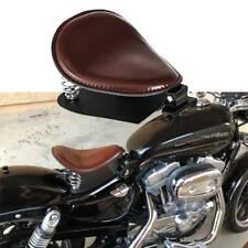 Braun Motorrad Solo Sitz mit Sitzfeder Grundplatte für Harley Sportster Bobber A