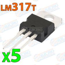 5x LM317 Regulador tension ajustable 1,2v–37v 1,5A positivo variable