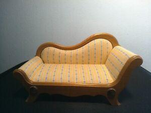 Biedermeier Sofa, Couch, Liege, Chaiselongue für Puppenhaus