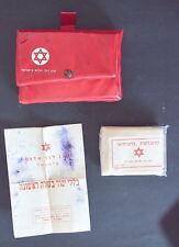 Vtg. Israel MAGEN DAVID ADOM First Aid Kit PVC Portable Box + Accessories