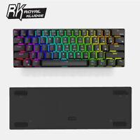 RK61 Bluetooth&USB Ergonomic RGB Backlight Mechanical Gaming PC Keyboard Keypads