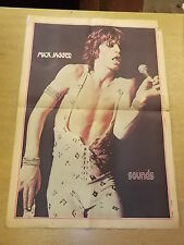 MICK JAGGER ROLLING STONES COLOUR POSTER SOUNDS OCTOBER 6 1973
