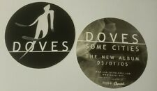 "Doves Some Cities set of 2 original Promo stickers 3"" Round 2005"