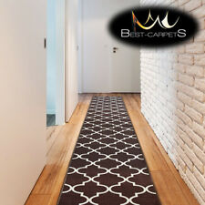THICK Runner TRELLIS brown modern NON-slip Stairs Width 57-120cm extra long RUGS