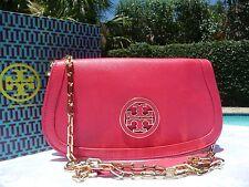 NWT TORY BURCH AMANDA LOGO CLUTCH CROSSBODY NEW CARNIVAL $350-PLUS GIFT BAG!