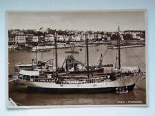 ANZIO panorana veliero barca vela Roma vecchia cartolina