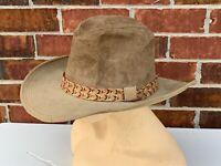 Vintage Cowboy Western Resistol  Ranchman StageCoach Brown 7 1/4 Cowboy Hat