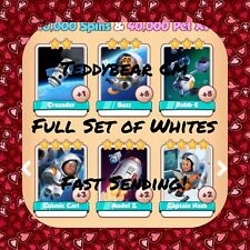 Coin Master Space Travel Set (X6 Whites) Crusader, Nash, Model, Carl(Fast Send)