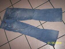 VANILLA STAR BRAND SEQUINNED BEADED LIGHT WASH DISTRESSED SZ 11 JEANS100% COTTON