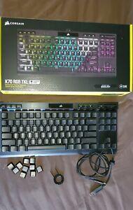 CORSAIR - K70 RGB TKL CHAMPION SERIES Mechanical Gaming Keyboard, Silver Speeds