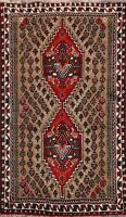 Nomad Geometric Hand-knotted Abadeh Area Rug Tribal Oriental Kitchen Carpet 3x4
