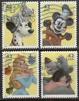 Scott #4342-45 Used Set of 4, The Art of Disney-Imagination Off Paper