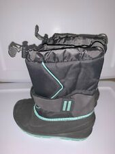 Girls Cordie Winter Snow Boots Gray and Turquoise Various Sizes Cat & Jac 00006000 k Nwt