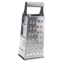 Stainless Steel 4 Sided Box Grater (Silver) F1Q2