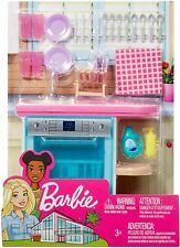 Barbie Furniture & Accessories Kitchen Sink Dishwasher Dishes & Silverware