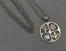 James Avery Sterling Silver 4 Seasons Pendant  Necklace