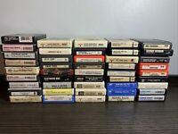 Lot of 45 Vintage 8-Track Tapes, Mixed Rock, Country, Elvis Some New Sealed