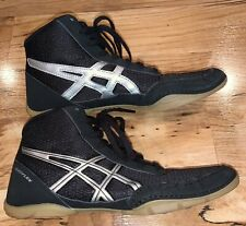 Asics Matflex 5 Gs Kids Wrestling Shoe Size 5.5 Youth Black Very Good Condition