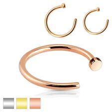 Nose Hoop Ring - Surgical Steel / Rose Gold - Various Gauge / Diameter Available