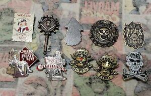 Disney Pins Pirates Of The Caribbean Set Of 10 Redd Medallion