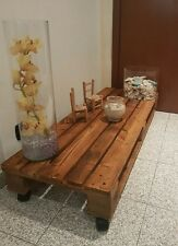 Tavolino in legno 150x40 con Pallet Bancali EUR  EPAL arredamento NUOVO