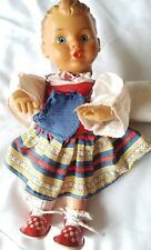 "EMSO Ges Gesch VTG Antique Tin Celluloid Wind Up German Girl Doll Key 8"" Tall"