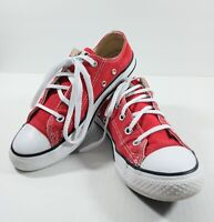 Converse Youth/Kids Chuck Taylor All Star Red Sneaker/Shoes Size 2