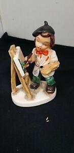 Vintage fridel Figurine Artist & Easel Western Germany