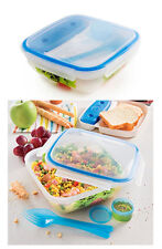 Set contenitore ermetico refrigerato posate pasti pranzo a sacco coperchio new