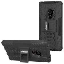 AMZER Hybrid Dual Layer Rugge Warrior Case With Stand For Xiaomi Mi Mix - Black