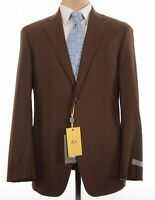 Canali NWT Sport Coat Size 42R In Solid Snuff Brown Wool KEI Current $1,450