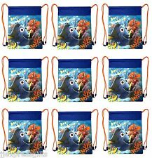 9x Disney Finding Dory Nemo Party Favors Drawstring Backpack Sling Tote Gym Bag