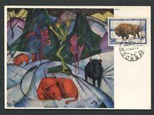 RUSSIA MK 1957 FAUNA BISON WISENT MAXIMUMKARTE CARTE MAXIMUM CARD MC CM d7711