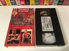 Joe Weider's Bodybuilding System: Chest & Triceps VHS 1993 Weight Training