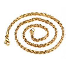 Cadena Tornada Triple Hilo con Oro Amarillo 18 KT 50 cm largo