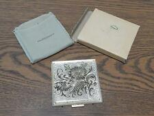 VTG Post-1945 Rex Fifth Avenue Silver Overlay Powder Compact UNUSED