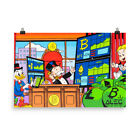Alec Monopoly Picture Mr Monopoly And Richie Rich Crypto Mining Wall Art Poster