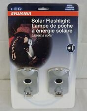 Sylvania LED Solar Powered Flashlight 2-Pack New in Package