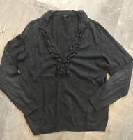 Talbots Cardigan Sweater Charcoal Heather Gray Sz Large 💫💫