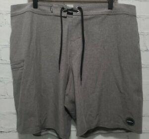 O'NEILL Men's 38 Hyperfreak Hydro Boardshorts Gray Swim Trunks Shorts,       A47