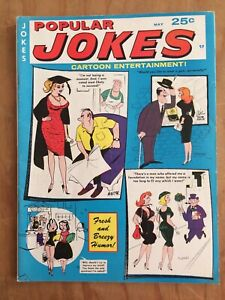 POPULAR JOKES Cartoon Entertainment 5/67 HUMORAMA Vintage Humor Gags