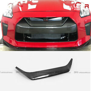 For 2017-19 Nissan R35 GTR MY17 Carbon Fiber Front Bumper Grill Grille Mesh Trim