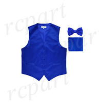 Tropical Royal Blue Tradewinds Tuxedo Vest and Bowtie
