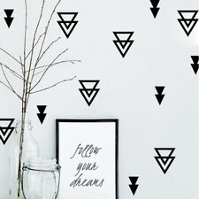 Nordic Style Wall Stickers Triangle Combination Hollow Overlay Home Decor HD