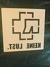 """Rammstein official 2005 promo temporary tattoo """"kein lust"""""""