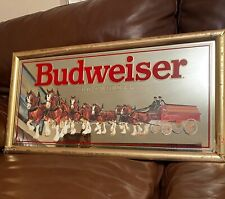 """Budweiser King Of Beers Clydesdale Wagon Mirror 27"""" X 14"""""""