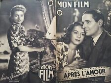 """MON FILM 1949 N° 104 - """" APRES L'AMOUR """" avec PIERRE BLANCHAR et GISELE PASCAL"""