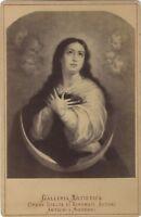La Vergine da Madrid Murillo Fotografia di dopo Incisione Albumina c1890