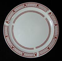 "Vintage Gibson Designs China Kokapeli Pattern Dinner Plate 10 1/2"" Diameter Rare"